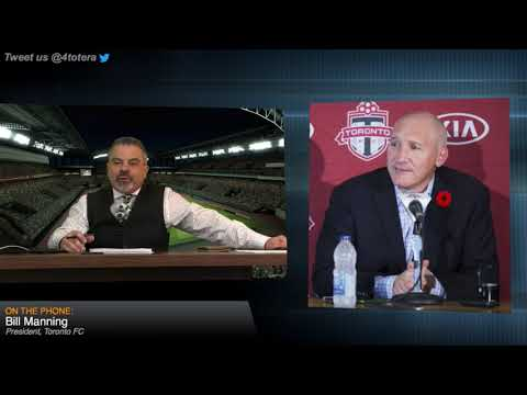Bill Manning President of Toronto FC joins Anthony Totera on Red Card