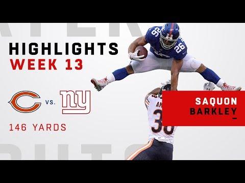 Saquon Barkley Highlights vs. Bears