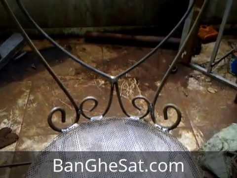 Hàn định hình và kiểm tra ghế sắt mỹ thuật trước khi sơn tại xưởng Nội Thất Minh Thy