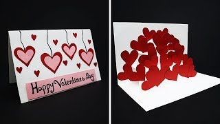 DIY Pop Up Love Card For Valentine's Day | Handmade Valentine Card