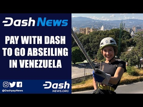 Isabel pays with Dash to go abseiling in Caracas, Venezuela
