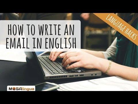 Auf schreiben englisch mail e Englische Mails: