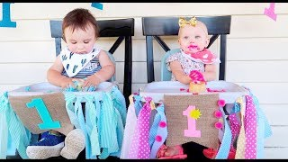Twins First Birthday Party!