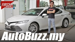 2019 Toyota Camry 2.5 V detailed First Look - AutoBuzz.my