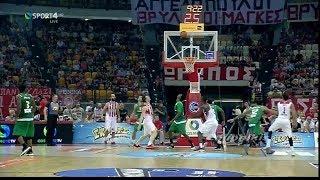Ολυμπιακός - Παναθηναϊκός 64-62 Highlights - Basket League 3ος τελικός (2-1) {4/6/2017}