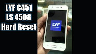LYF C451 Ls 4508 hard reset and pattern remove with frp unlock