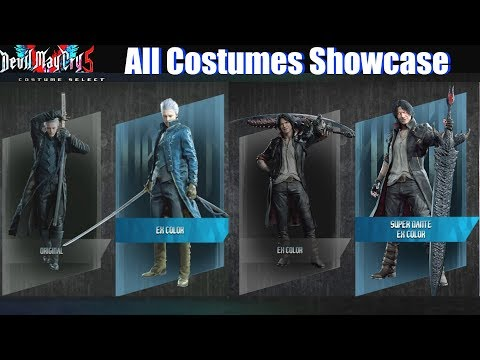 DMC 5 All Costumes Unlocked (Vergil Dante Nero Lady Trish Nico) - Devil May Cry 5 2019 thumbnail
