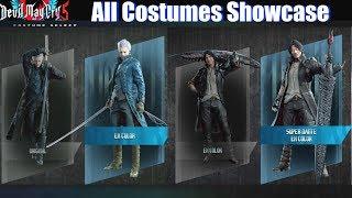 DMC 5 All Costumes Unlocked (Vergil Dante Nero Lady Trish Nico) - Devil May Cry 5 2019