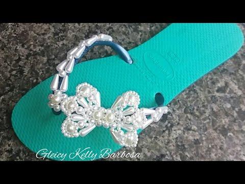 Costurando lacinho de gotas-Gleicy Kelly Barbosa