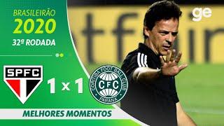 SÃO PAULO 1 X 1 CORITIBA | MELHORES MOMENTOS | 32ª RODADA BRASILEIRÃO 2020 | ge.globo