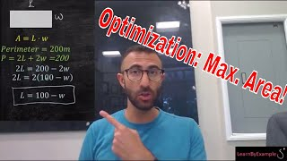 Step by Step guide to Optimization Problems: Maximize area,volume, colst