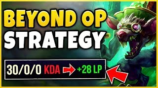 *NEW* INSANELY OP BOOSTING STRATEGY! (WIN GAMES IN 4 MINUTES) INTING SION 5.0! - League of Legends