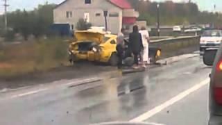 жестокая авария мустанга на трассе в Саратов