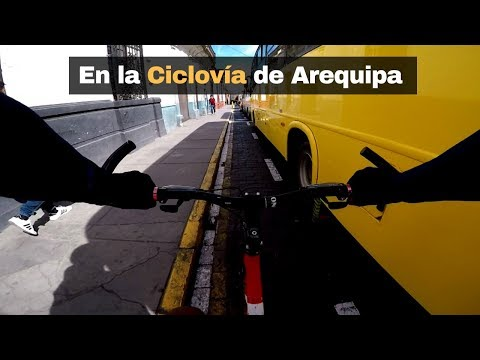 En la Ciclovía de Arequipa