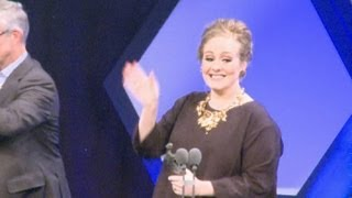 adele proves she is top of her game after bagging two ivor novello awards