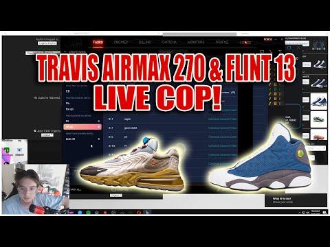 TRAVIS AIR MAX 270 & JORDAN 13 FLINT LIVE COP! (50+ PAIRS!)