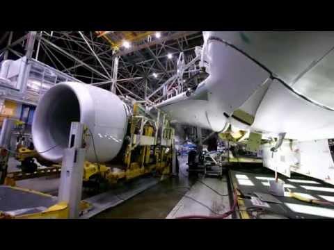 Cómo se fabrica un 737-800 visto en cuestión de segundos