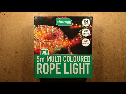 Cheap LED ropelight unboxing and analysis.