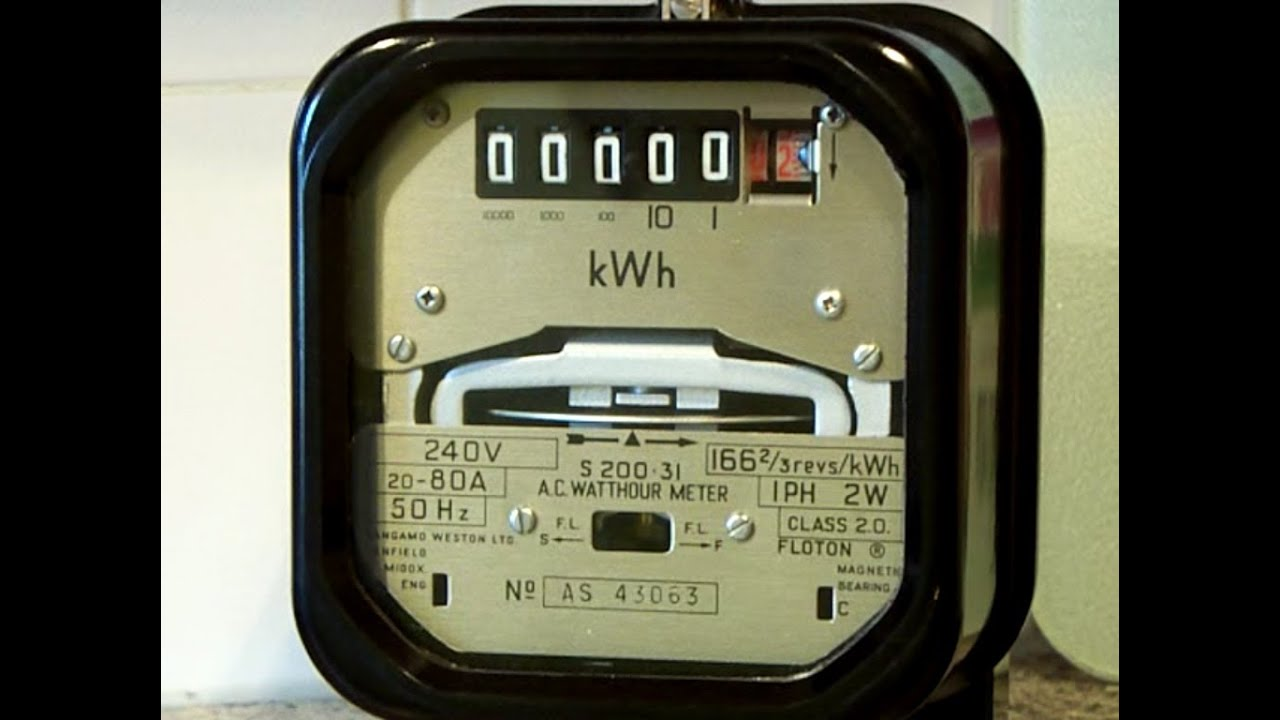 electricity meter sangamo weston kwh meter youtube. Black Bedroom Furniture Sets. Home Design Ideas