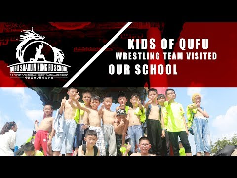 Kids From Qufu Wrestling Team Visited Our Kung Fu School