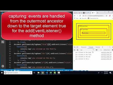 javascript.info The Modern JavaScript Tutorial Part 2: 2.2 Bubbling and Capturing thumbnail