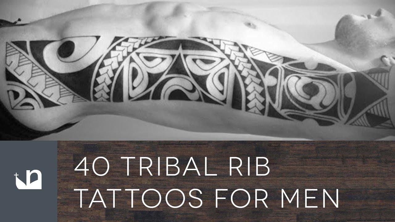 40 Tribal Rib Tattoos For Men - YouTube