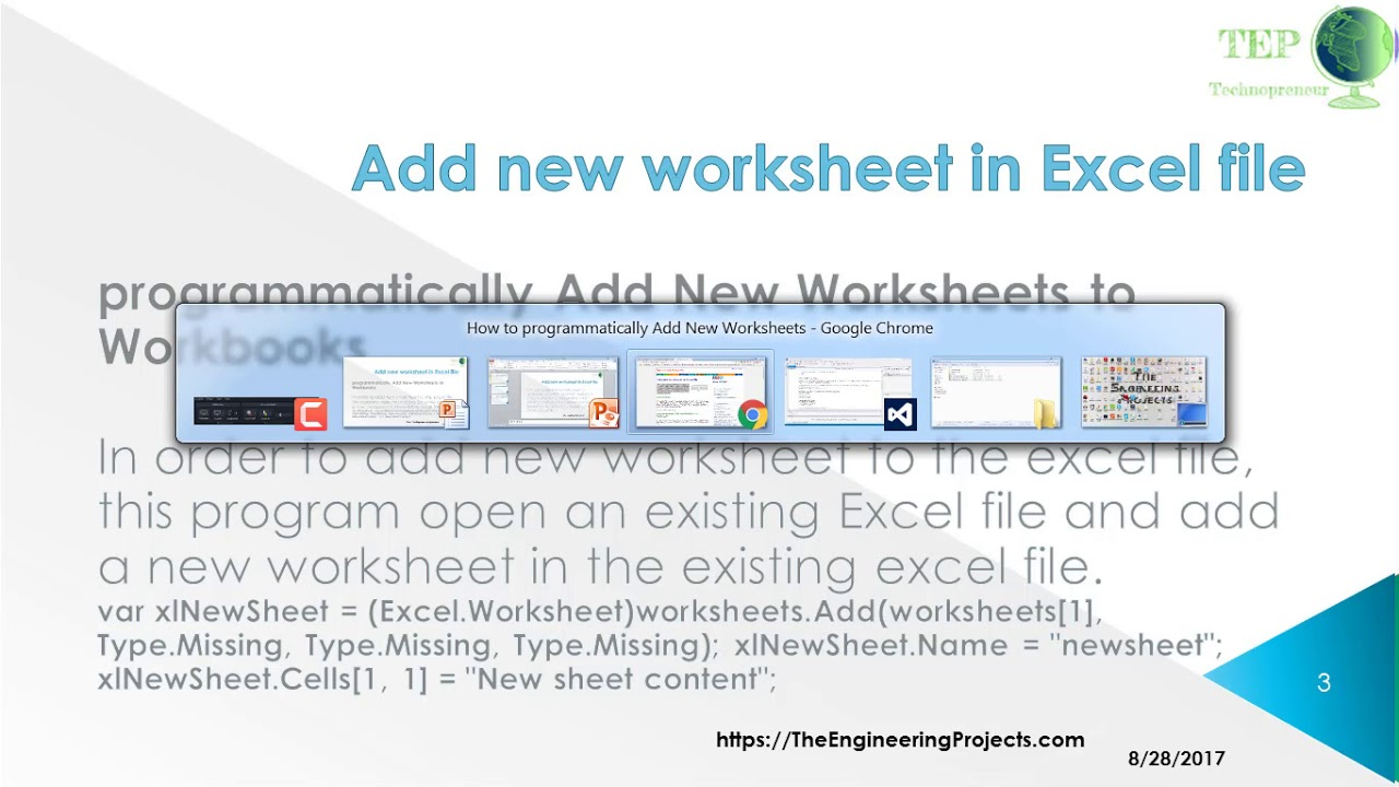 098 - Add new worksheet in Excel file in C#