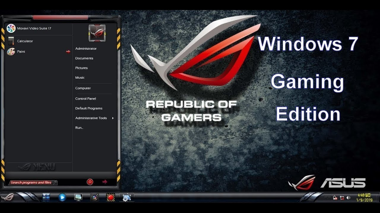 Windows 10 Gaming Edition Rog-Rampage 2019