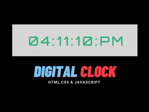 Digital Clock with HTML, CSS and JavaScript