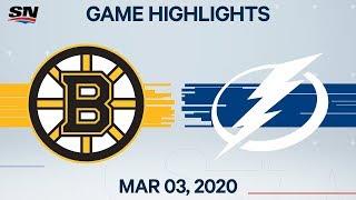 NHL Highlights   Bruins vs. Lightning – Mar. 3, 2020