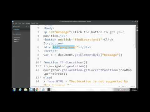 Learn To Use HTML5 Geolocation API And Google Map By Asim Iqbal
