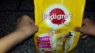 Pedigree Food for puppy Review | Dog food | Non veg food for puppy| Ready to eat food for dog
