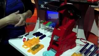 Hot Wheels Car Maker, Make Your Own Hot Wheels Cars in 7 Minutes.  First Look Toy Fair 2013