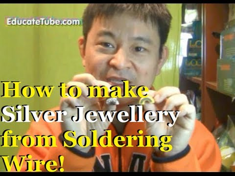 How to make diy jewelry with non lead solder wire silver for How to solder copper jewelry