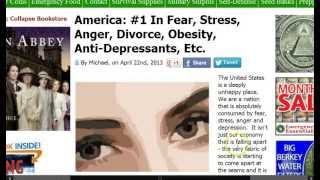 GGN: US #1 in Fear/Stress/Anger/Depression, Rise in Baby Boomer Suicides, China Pushes Atheism
