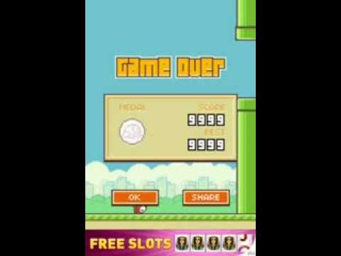How to get 9,999 points on flappy bird (no downloads)