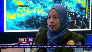 BMKG: Cuaca Ekstrem Berlangsung Pada 13-20 November 2016 Meliputi Sumatera Dan Jawa - NET 16