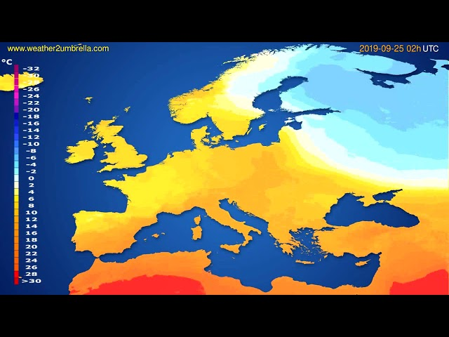 <span class='as_h2'><a href='https://webtv.eklogika.gr/' target='_blank' title='Temperature forecast Europe // modelrun: 12h UTC 2019-09-22'>Temperature forecast Europe // modelrun: 12h UTC 2019-09-22</a></span>