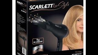 видео Фен Scarlett SC-HD70|16: стильный, яркий, доступный. Тест