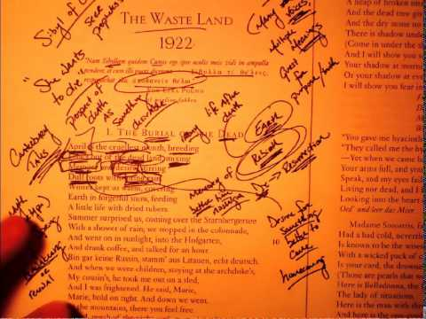 """""""The Waste Land"""" - The Burial of the Dead (part 1 of 2)"""