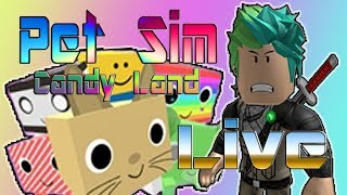 (Roblox) Pet Sim! Candy Land Update! ///Avatar Item Givaways/// (RoadTo500)