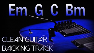Clean Rock Guitar Backing Track E minor