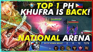 TOP 1 PH KHUFRA FOR 11 MONTHS NATIONAL ARENA | PLAYING WITH CAPTAIN DEX STAR AND VOICE CAST BY YOLO