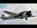 Last flyable JUNKERS JU 52/3m in Germany takes off - Beautiful sight and sound!