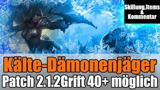 Diablo 3 Ros Kälte-Dämonenjäger Guide, Grift 43 Gameplay Patch 2.1.2 HD
