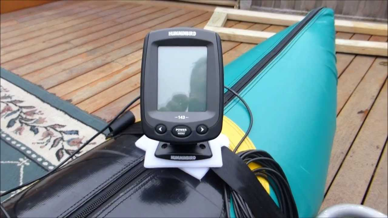 humminbird fish finder and anchor setup on my pontoon boat - youtube, Fish Finder