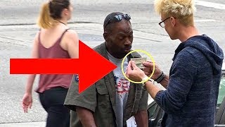 magician makes homeless mans wish come true helping with magic