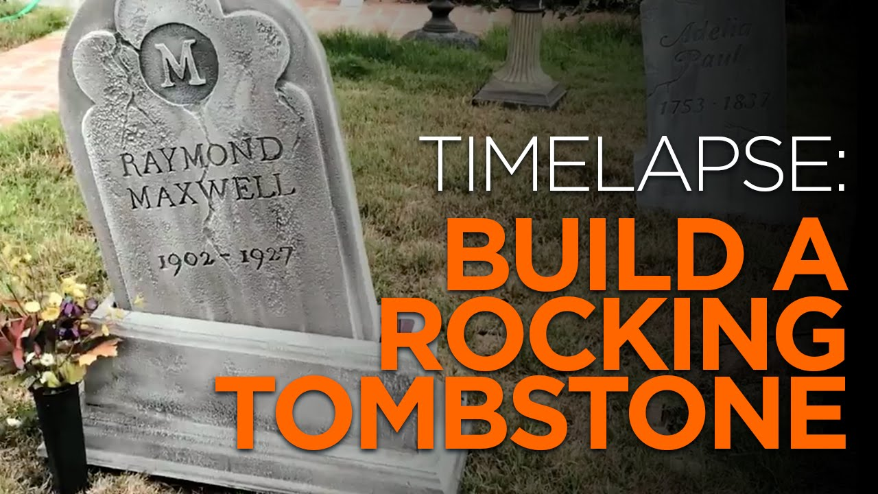 diy moving halloween tombstone - youtube