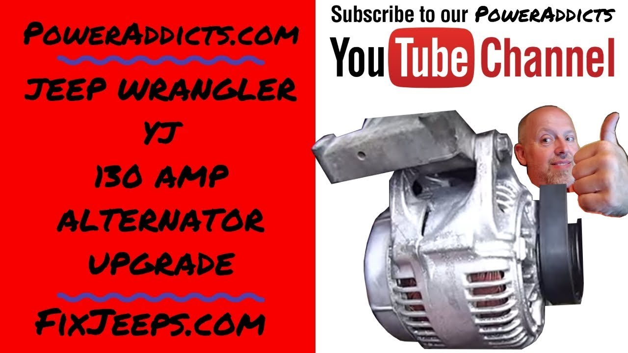 jeep wrangler yj 135 amp alternator upgrade [ 1280 x 720 Pixel ]