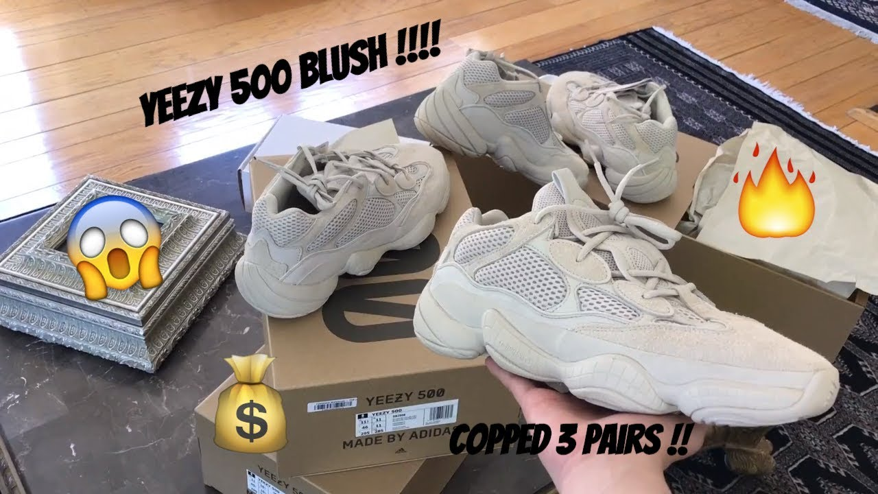 776be00e72c ADIDAS YEEZY 500 BLUSH REVIEW   DETAILED LOOKS! + ON FOOT